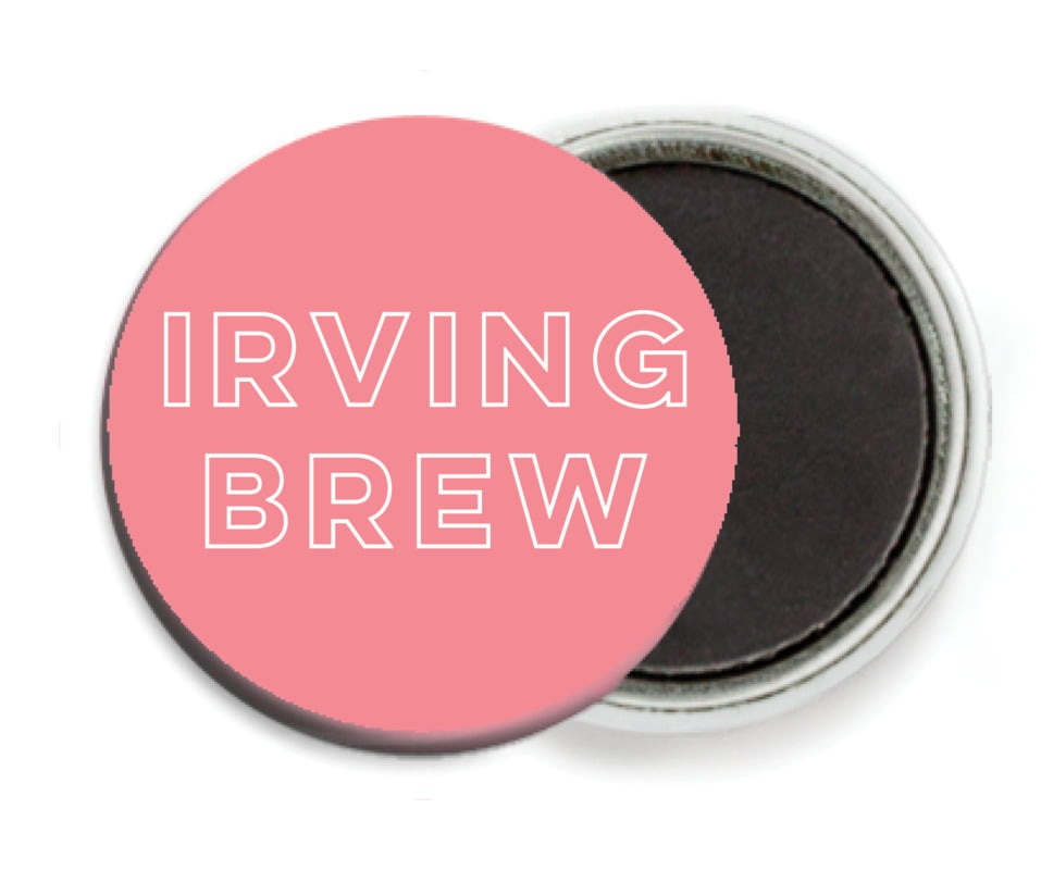 custom button magnets - grapefruit - aurora (set of 6)