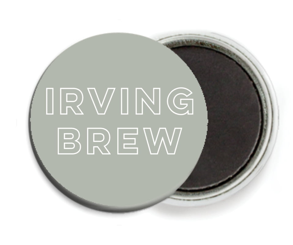 custom button magnets - pewter grey - aurora (set of 6)