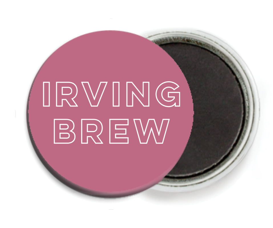 custom button magnets - blush pink - aurora (set of 6)