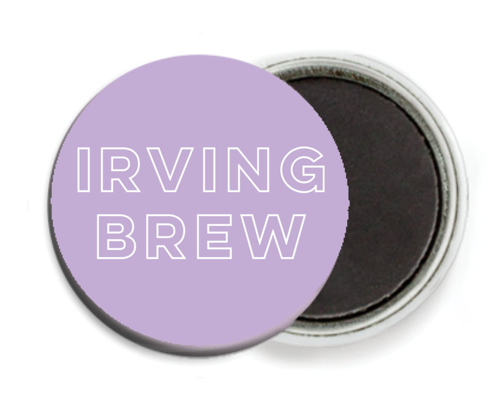 custom button magnets - lilac - aurora (set of 6)
