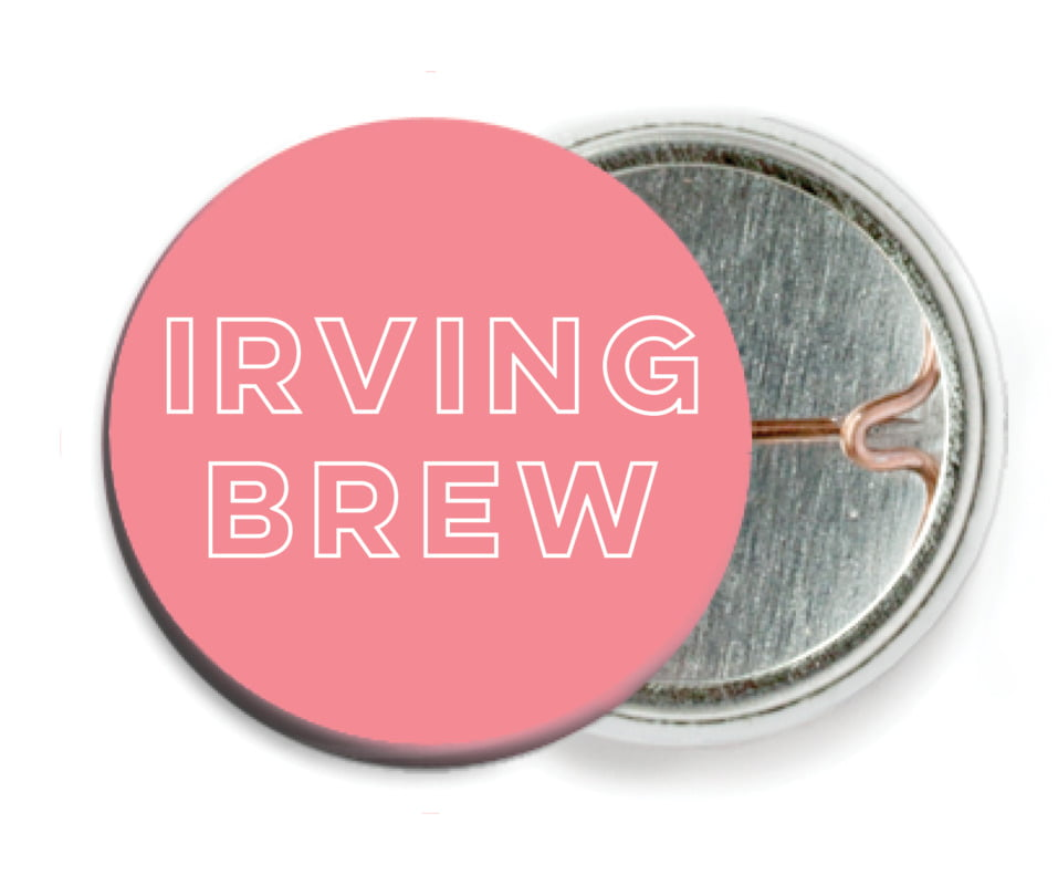 custom pin back buttons - grapefruit - aurora (set of 6)
