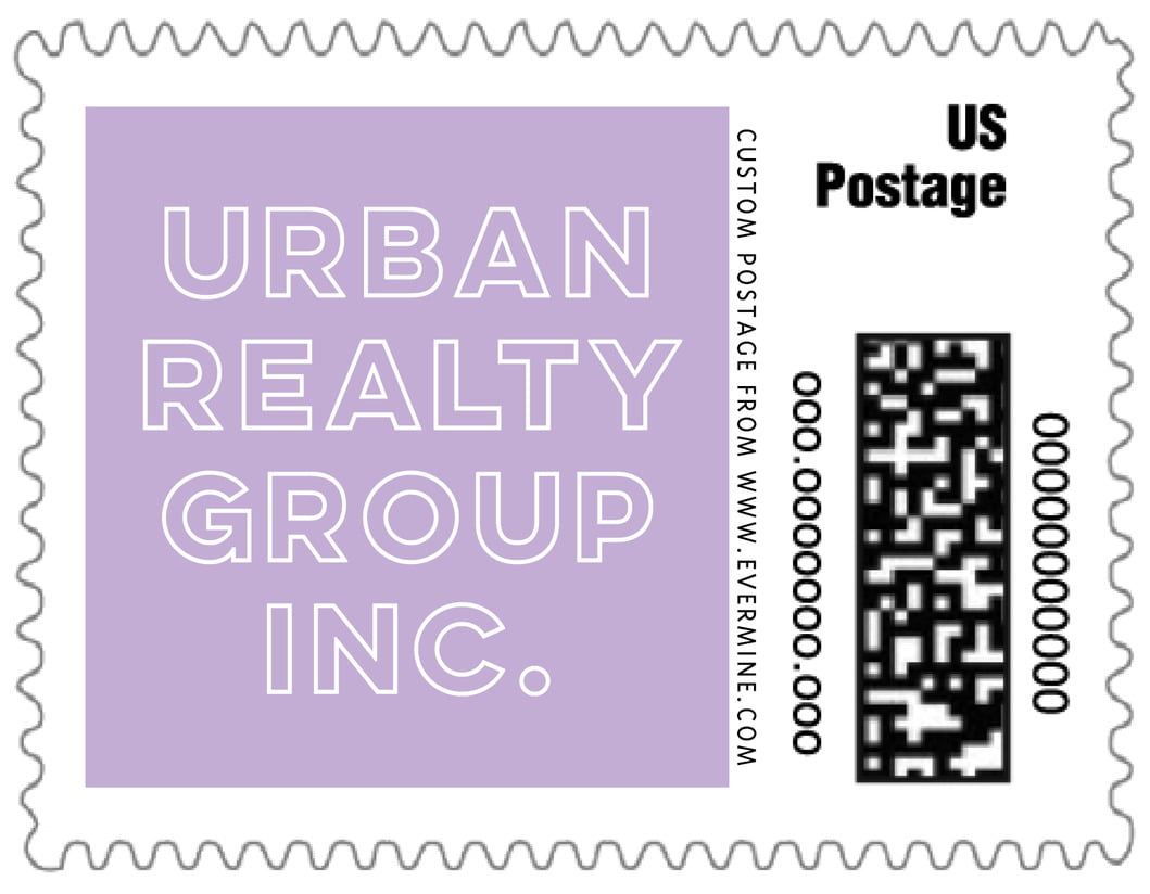 small custom postage stamps - lilac - aurora (set of 20)