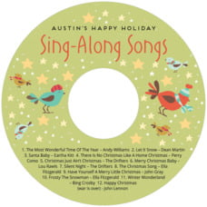 Merry Birdies cd labels
