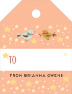 Merry Birdies small luggage gift tags