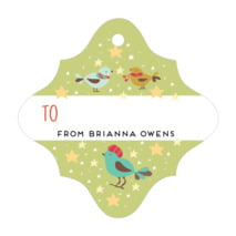Merry Birdies fancy diamond gift tags