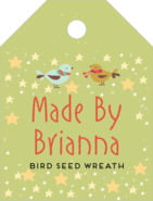 Merry Birdies Small Luggage Tag In Green Tea