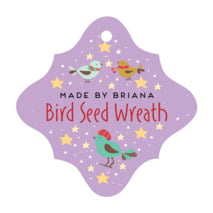Merry Birdies fancy diamond hang tags