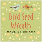 Merry Birdies Square Label In Green Tea