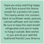 Merry Birdies square text labels