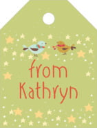 Merry Birdies small luggage tags