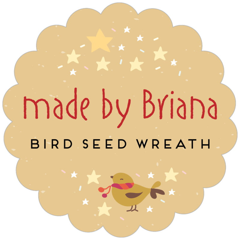 scallop food/craft labels - deep gold - merry birdies (set of 20)
