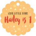 Starry Sky scallop hang tags
