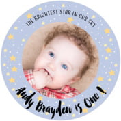 Starry Sky baby birthday coasters