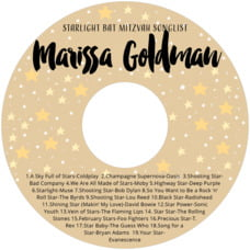 Starry Sky Cd Label In Deep Gold