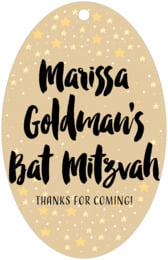Starry Sky bar/bat mitzvah tags