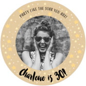 Starry Sky milestone birthday coasters