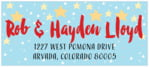 Starry Sky designer address labels