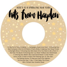 Starry Sky birthday CD/DVD labels