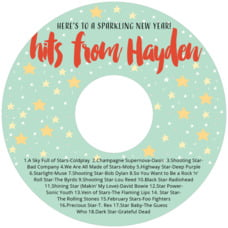 Starry Sky holiday CD/DVD labels