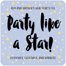 Starry Sky square coasters