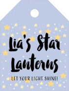 Starry Sky small luggage tags