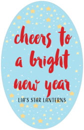 Starry Sky tall oval labels