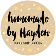 Starry Sky Large Circle Label In Deep Gold