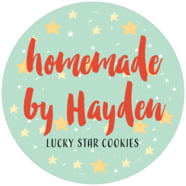 Starry Sky holiday labels