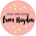 Starry Sky medium round labels