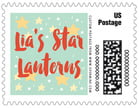 Starry Sky Small Postage Stamp In Sea Glass