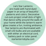 Starry Sky circle text label