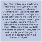 Starry Sky square text labels