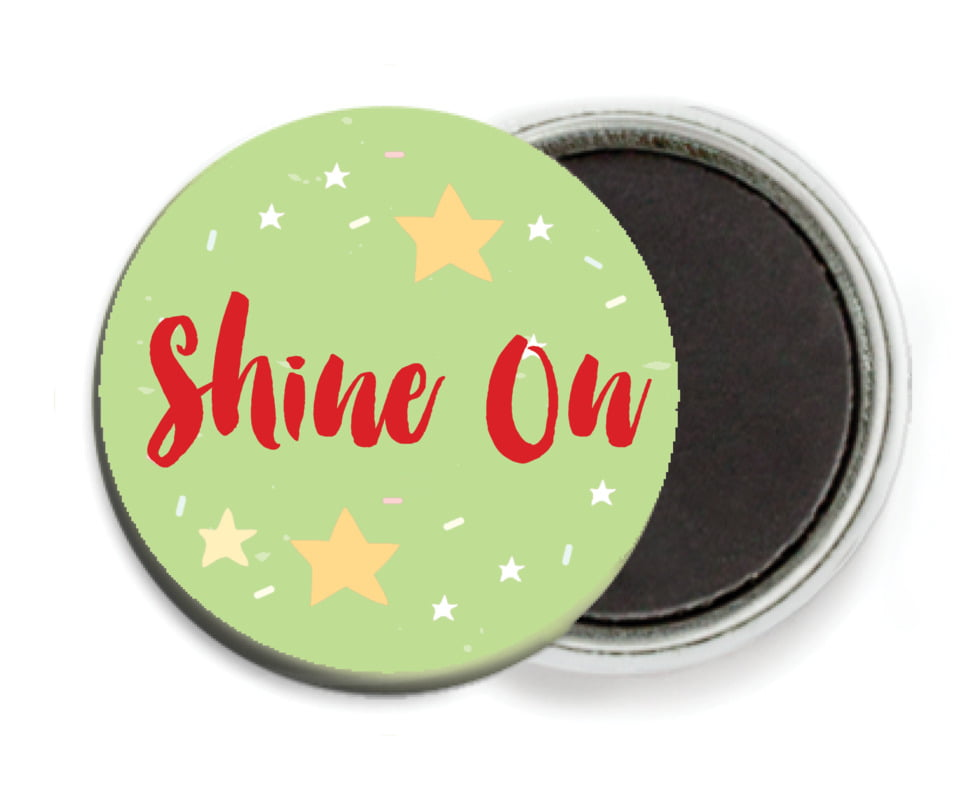 custom button magnets - lime - starry sky (set of 6)