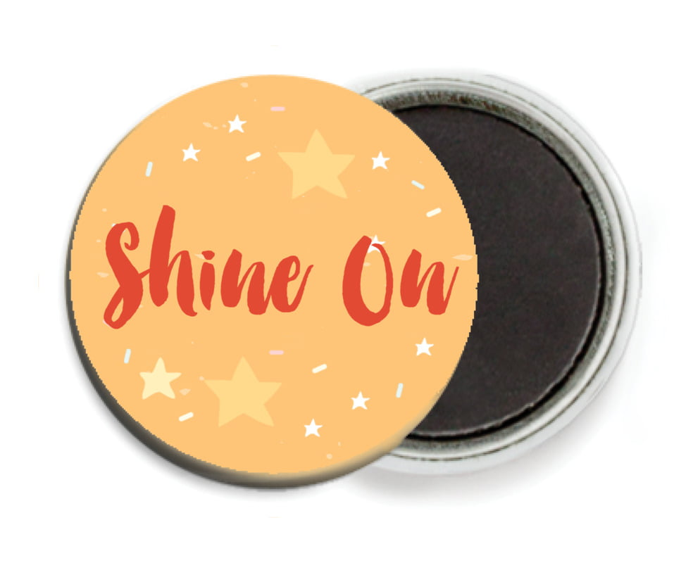 custom button magnets - orange - starry sky (set of 6)