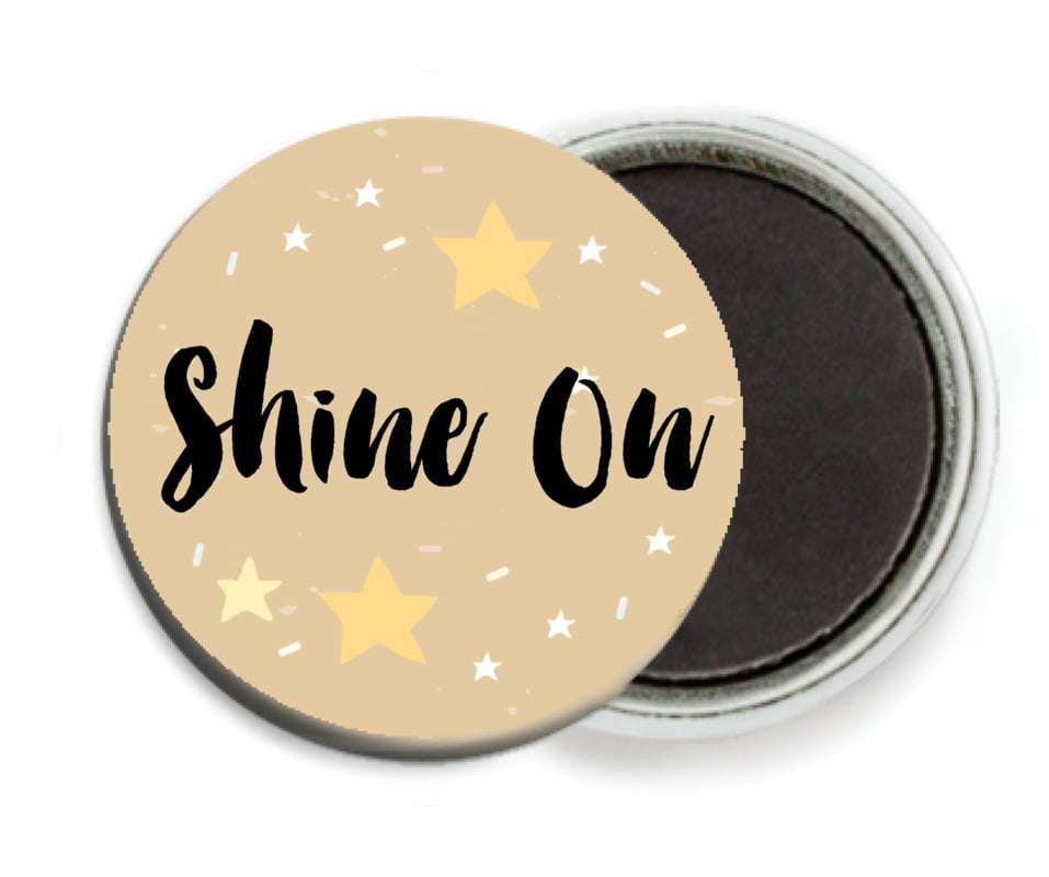 custom button magnets - deep gold - starry sky (set of 6)