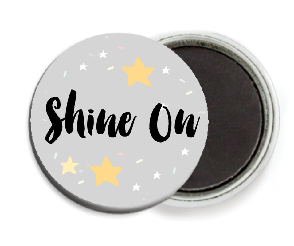 custom button magnets - stone - starry sky (set of 6)