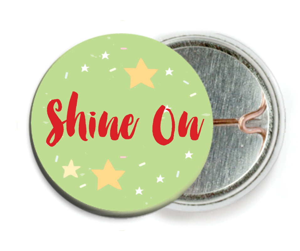 custom pin back buttons - lime - starry sky (set of 6)
