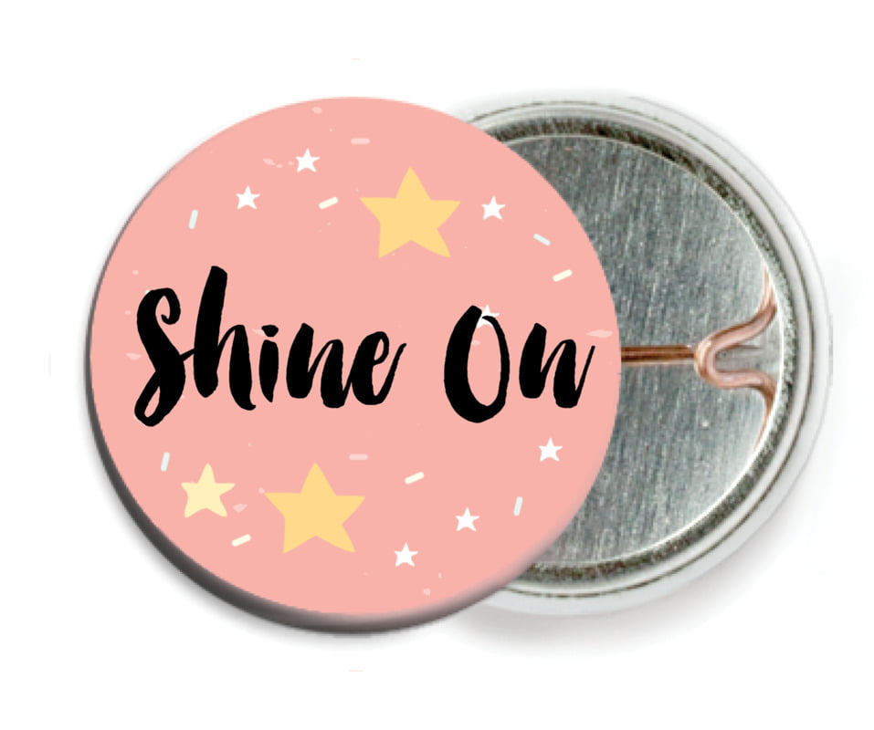 custom pin back buttons - grapefruit - starry sky (set of 6)