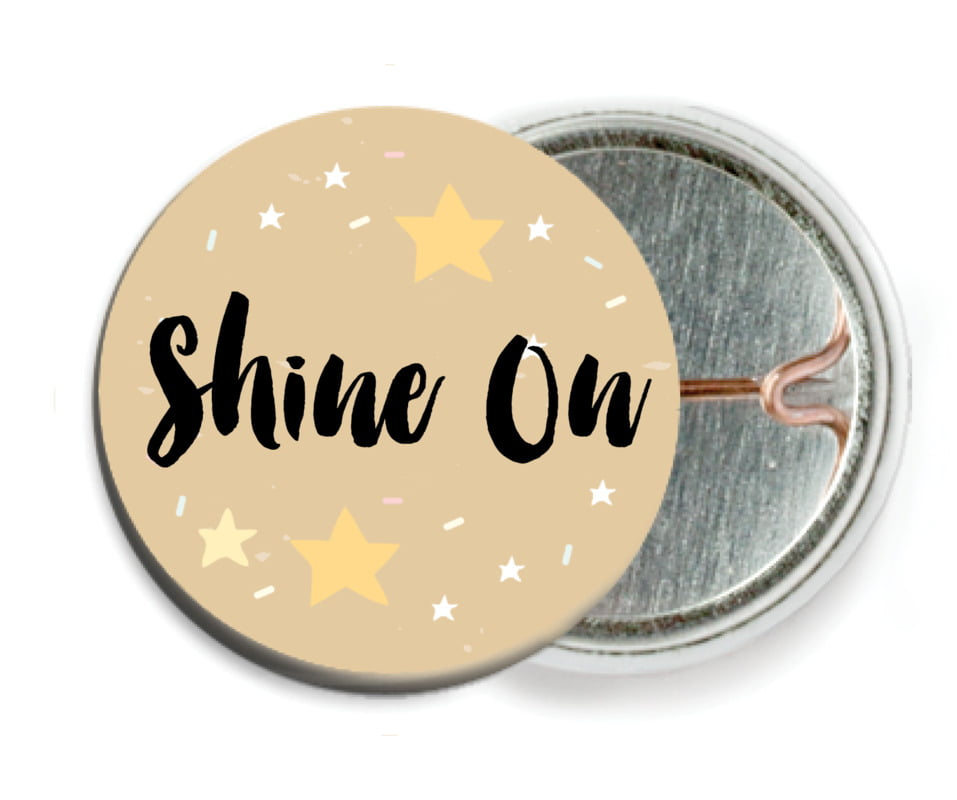 custom pin back buttons - deep gold - starry sky (set of 6)