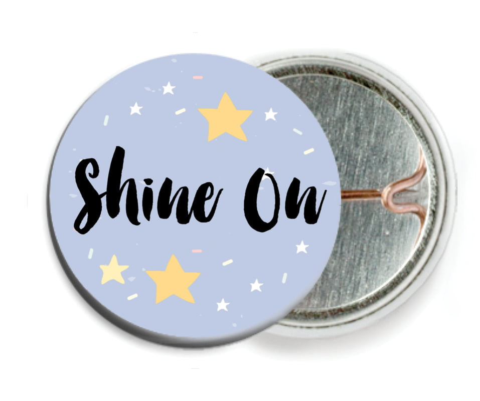 custom pin back buttons - serenity - starry sky (set of 6)