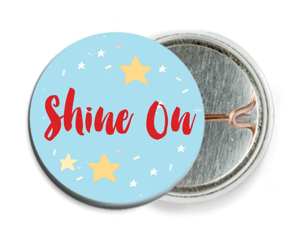 custom pin back buttons - sky - starry sky (set of 6)