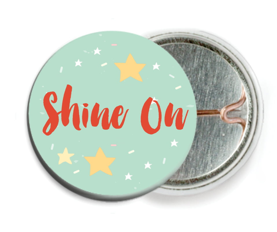 custom pin back buttons - sea glass - starry sky (set of 6)