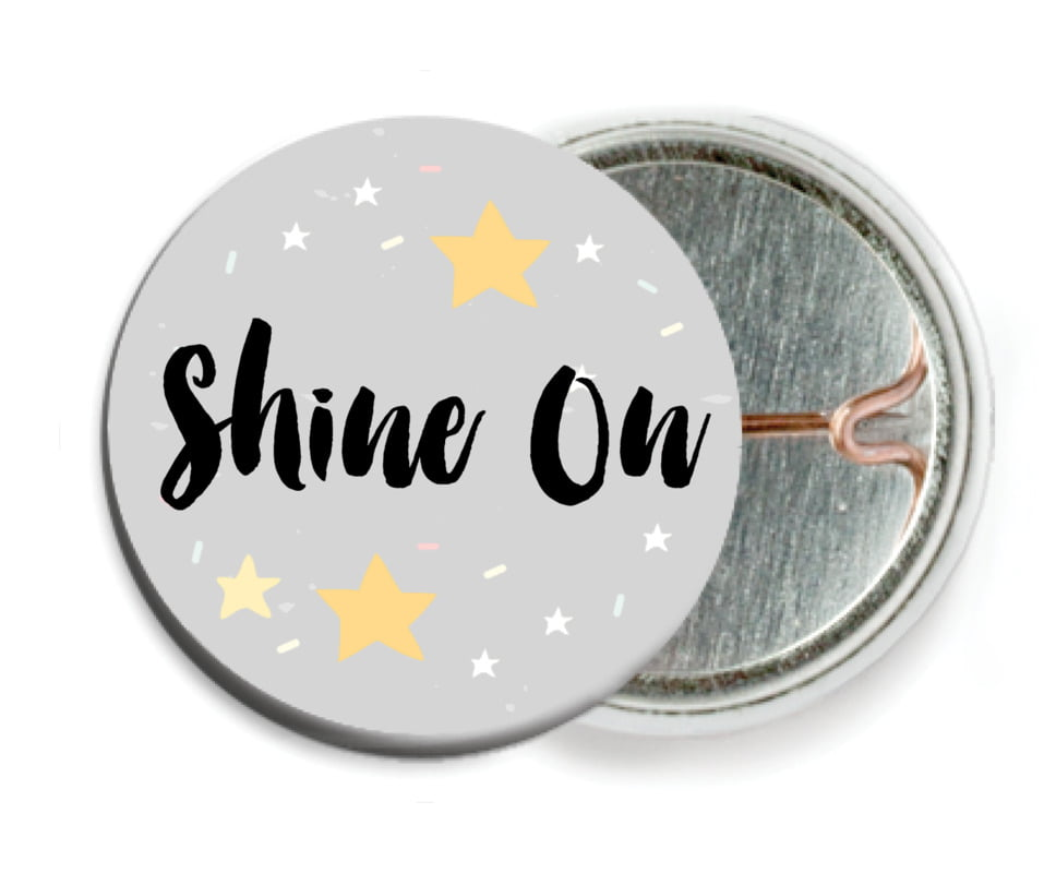 custom pin back buttons - stone - starry sky (set of 6)