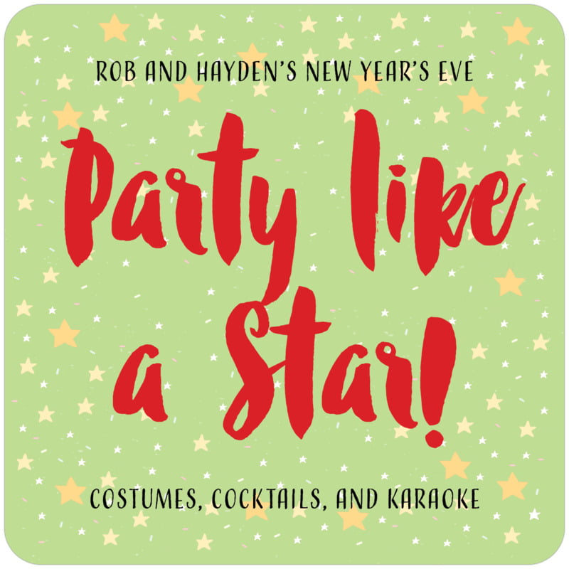 square beer coasters - lime - starry sky (set of 12)