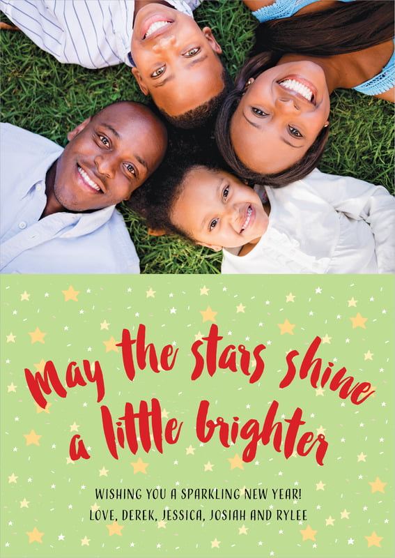 holiday cards - lime - starry sky (set of 10)