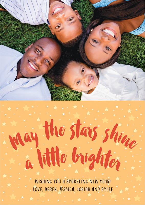 holiday cards - orange - starry sky (set of 10)