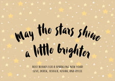 holiday cards - deep gold - starry sky (set of 10)