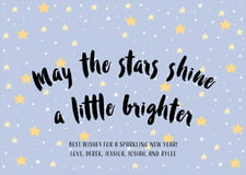 holiday cards - serenity - starry sky (set of 10)