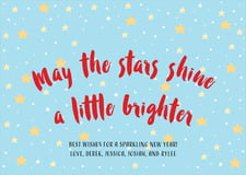 holiday cards - sky - starry sky (set of 10)