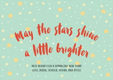 holiday cards - sea glass - starry sky (set of 10)